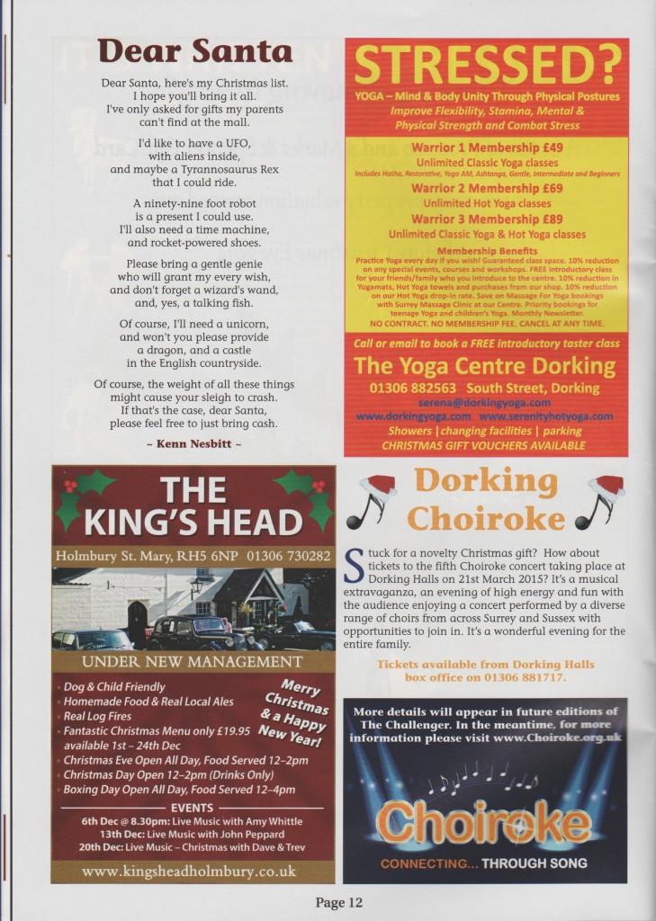 The Challenger Dorking Dec 2014